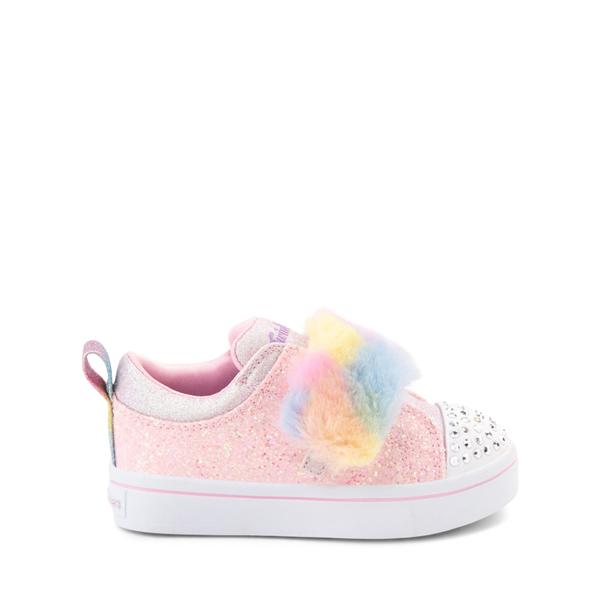 Main view of Skechers Twinkle Toes Twi-Lites Ooh La Fur Sneaker - Toddler - Light Pink / Multicolor