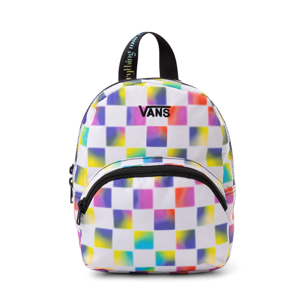 Main view of Vans Cultivate Care Checkerboard Mini Backpack - White / Multicolor