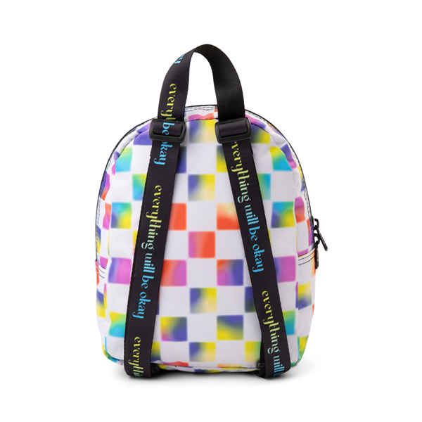 alternate view Vans Cultivate Care Checkerboard Mini Backpack - White / MulticolorALT2