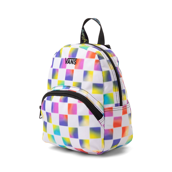 alternate view Vans Cultivate Care Checkerboard Mini Backpack - White / MulticolorALT4