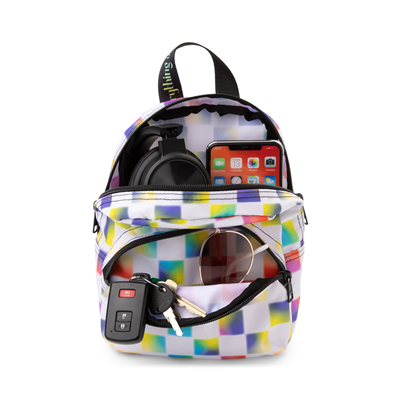 Alternate view of Vans Cultivate Care Checkerboard Mini Backpack - White / Multicolor