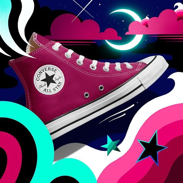 alternate view Converse Chuck Taylor All Star Hi Sneaker - Midnight HibiscusALT1B