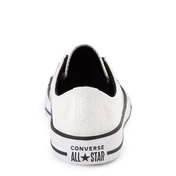 alternate view Converse Chuck Taylor All Star Lo Glitter Sneaker - Little Kid / Big Kid - WhiteALT4