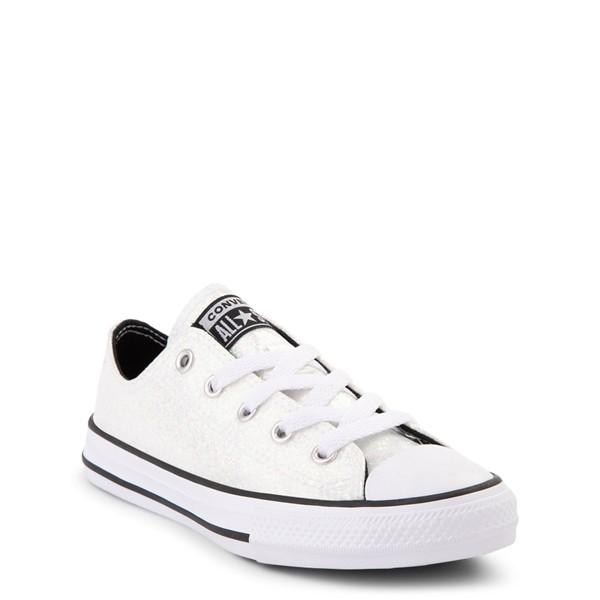 alternate view Converse Chuck Taylor All Star Lo Glitter Sneaker - Little Kid / Big Kid - WhiteALT5