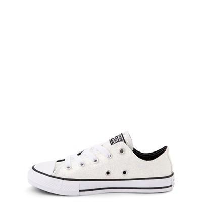 Alternate view of Converse Chuck Taylor All Star Lo Glitter Sneaker - Little Kid / Big Kid - White