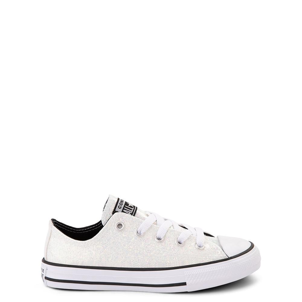 Converse Chuck Taylor All Star Lo Glitter Sneaker - Little Kid / Big Kid - White