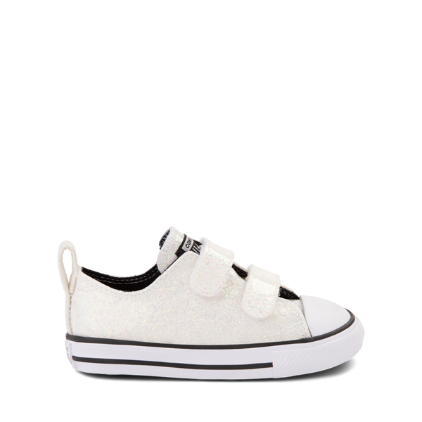 Main view of Converse Chuck Taylor All Star Lo 2V Glitter Sneaker - Baby / Toddler - White