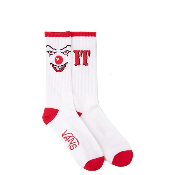Mens Vans x Horror It Crew Socks - White / Red