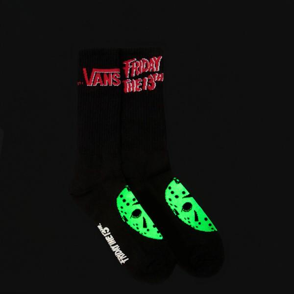 alternate view Mens Vans x Horror Friday The 13th Crew Socks - BlackALT1