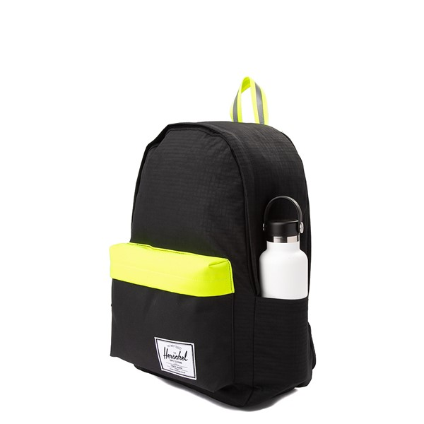 alternate view Herschel Supply Co. Classic XL Backpack - Black Enzyme / Safety YellowALT4
