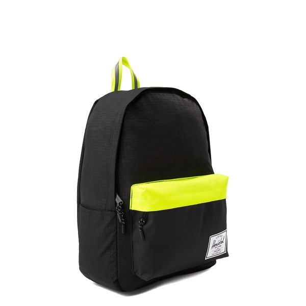 alternate view Herschel Supply Co. Classic XL Backpack - Black Enzyme / Safety YellowALT4B