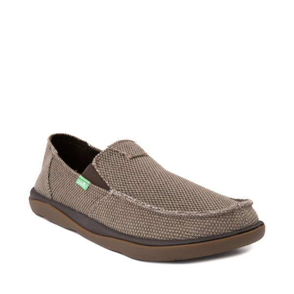 alternate view Mens Sanuk Vagabond Tripper Slip On Casual Shoe - BrownALT5