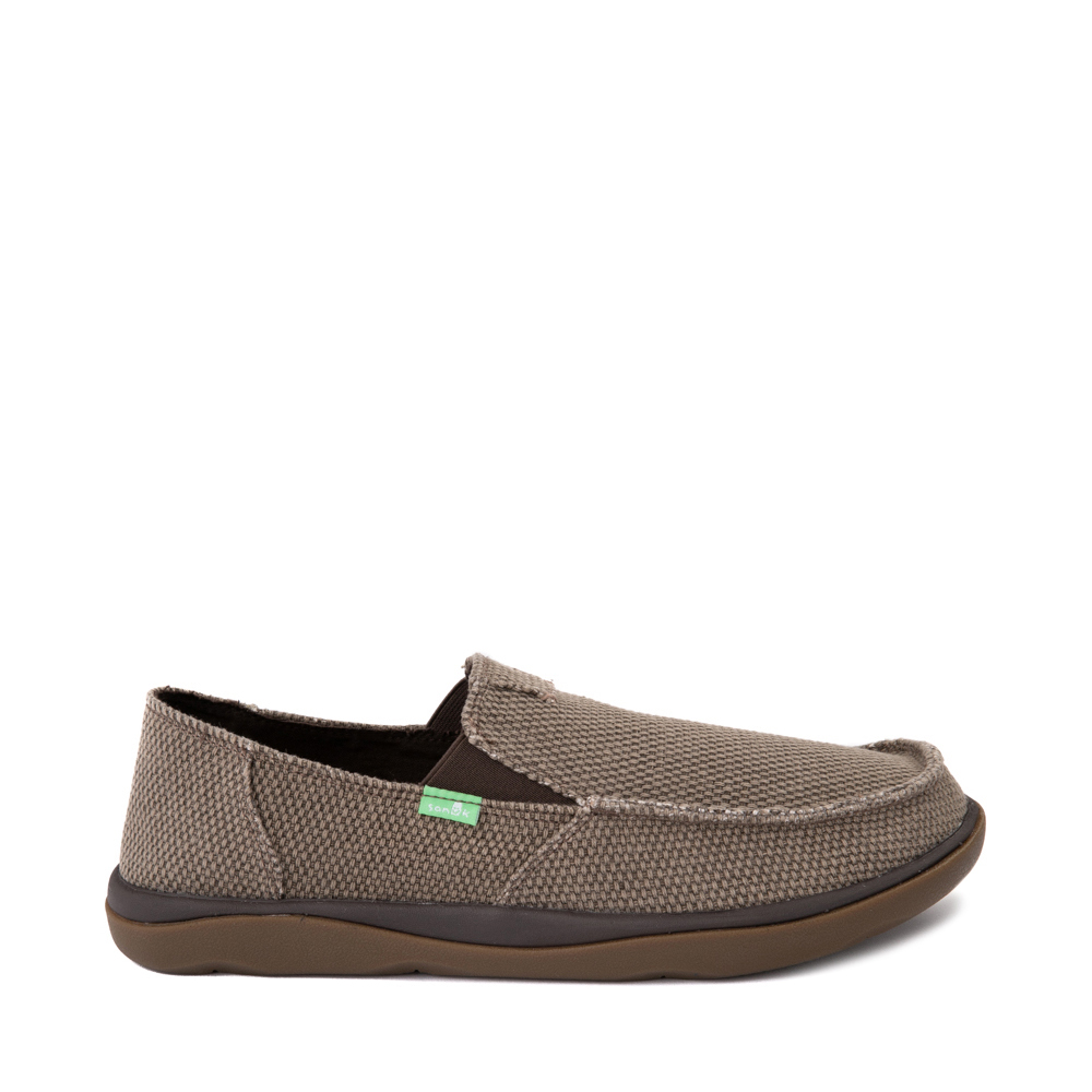Mens Sanuk Vagabond Tripper Slip On Casual Shoe - Brown