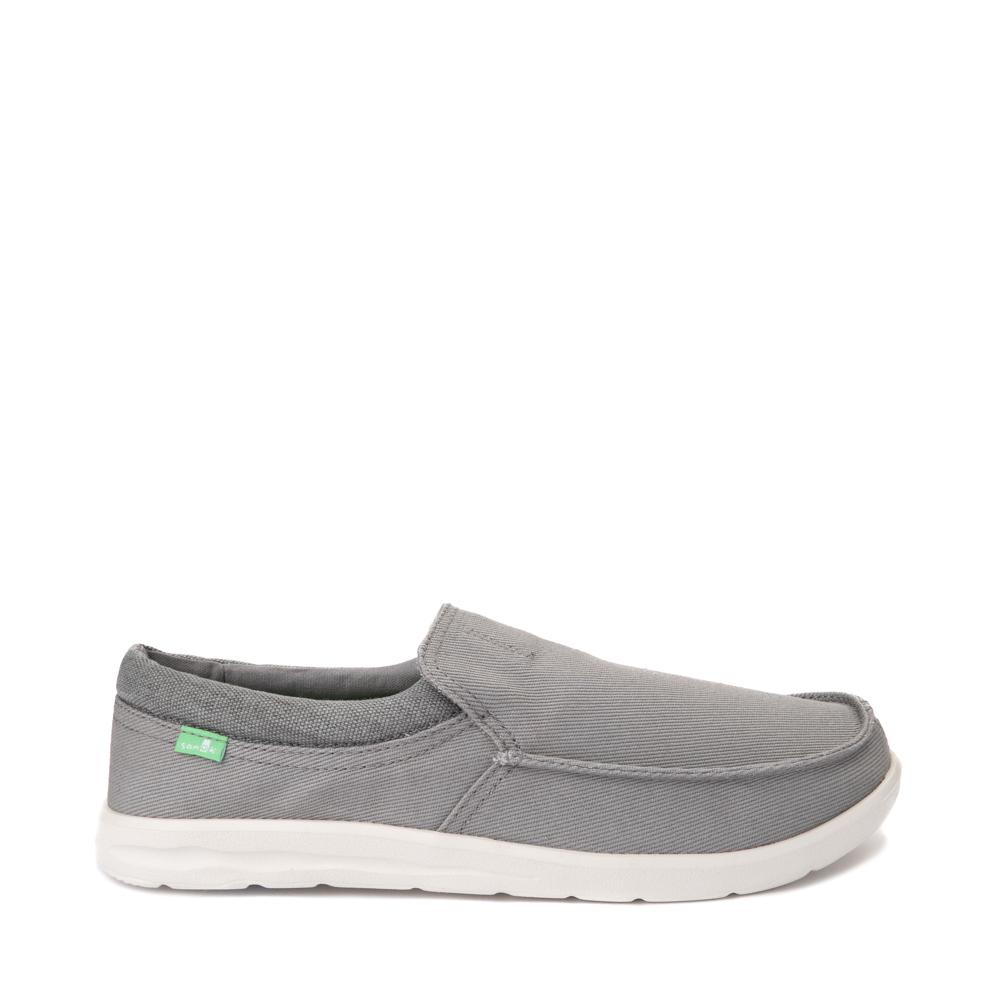Mens Sanuk Hi Bro Lite Slip On Casual Shoe - Gray