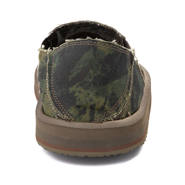 alternate view Mens Sanuk Vagabond ST Slip On Casual Shoe - Green / Navy Tie DyeALT4