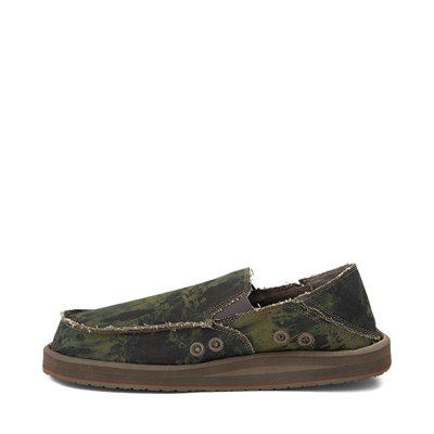 Alternate view of Mens Sanuk Vagabond ST Slip On Casual Shoe - Green / Navy Tie Dye