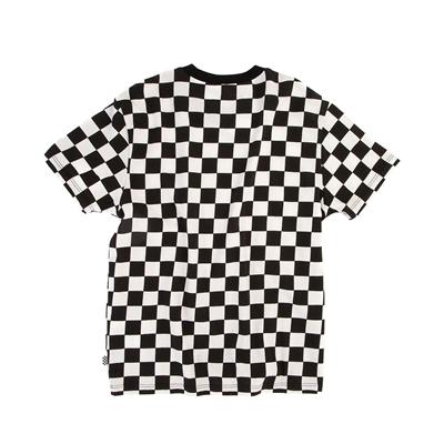 Alternate view of Vans Drop V Checkerboard Tee - Little Kid / Big Kid - Black / White