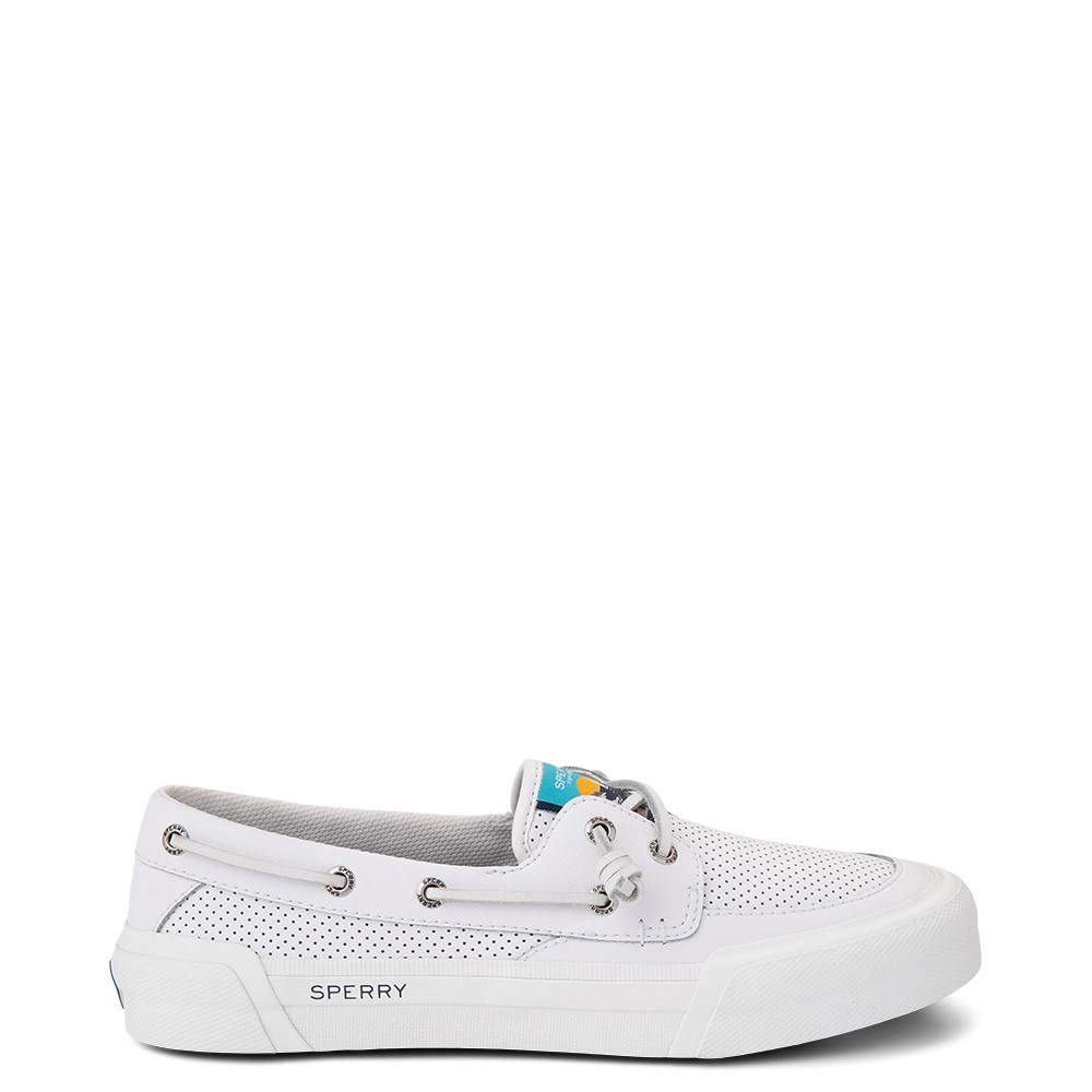 Womens Sperry Top-Sider Soletide 2-Eye Casual Shoe - White