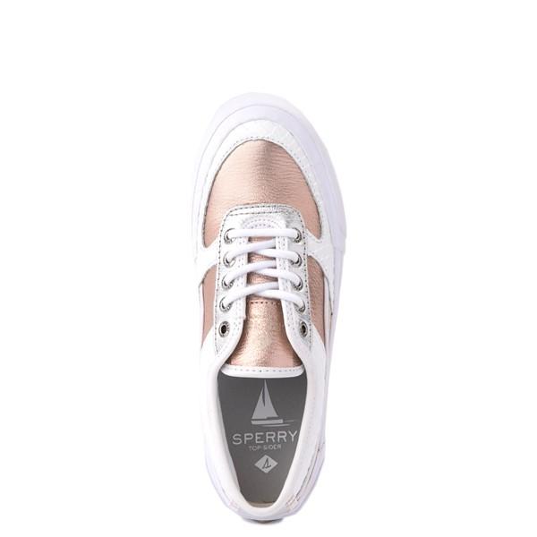 alternate view Womens Sperry Top-Sider Soletide Sneaker - White / Rose GoldALT2