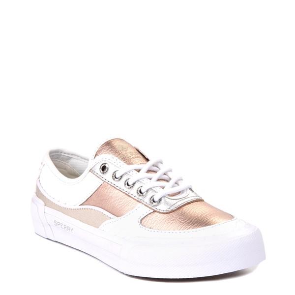 alternate view Womens Sperry Top-Sider Soletide Sneaker - White / Rose GoldALT5