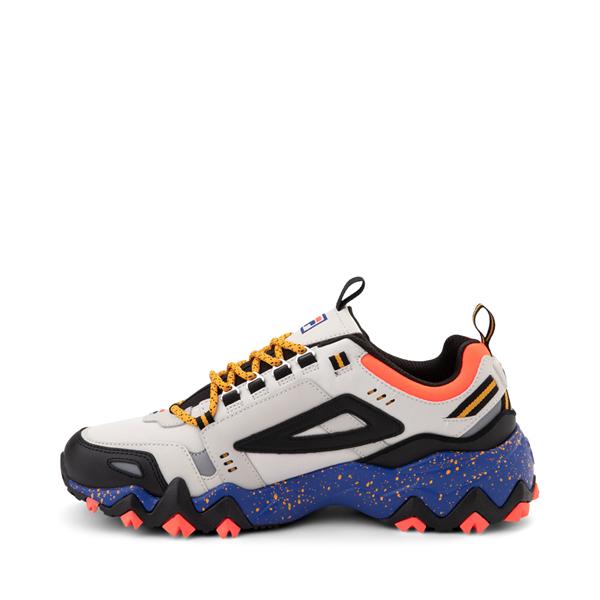 alternate view Mens Fila Oakmont TR Athletic Shoe - Silver Birch / Black / Maze BlueALT1B