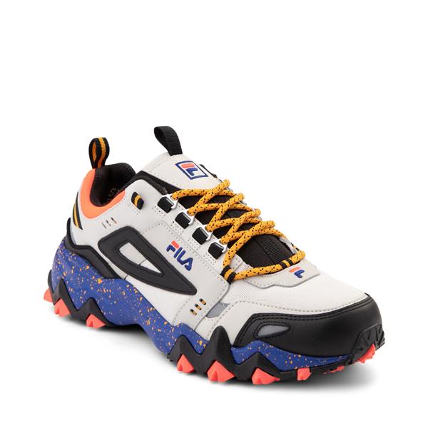 alternate view Mens Fila Oakmont TR Athletic Shoe - Silver Birch / Black / Maze BlueALT5