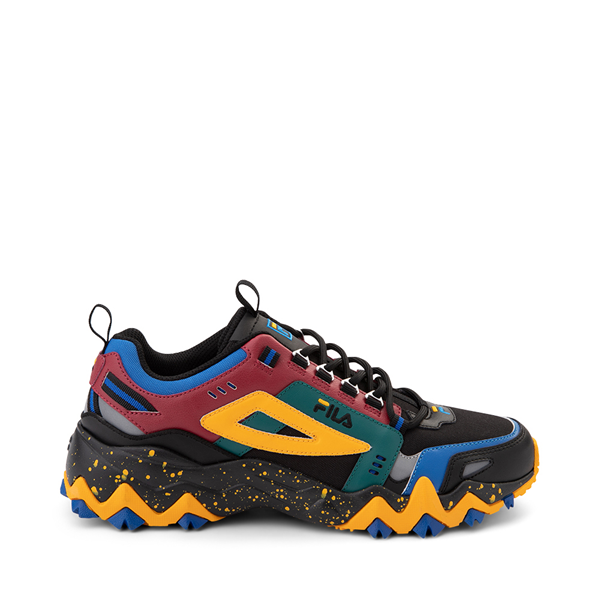 Main view of Mens Fila Oakmont TR Athletic Shoe - Black / Rio Red / Imperial Blue