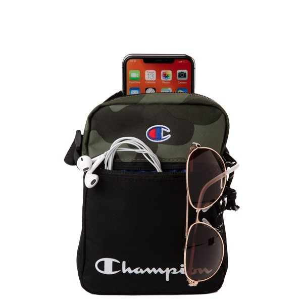 alternate view Champion Manuscript Crossbody Bag - Black / CamoALT1