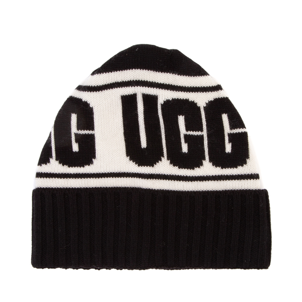 UGG® Knit Logo Stadium Beanie - Black