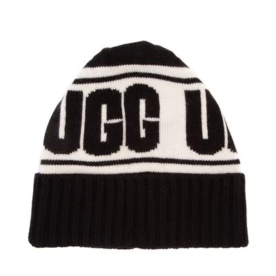 Alternate view of UGG® Knit Logo Stadium Beanie - Black