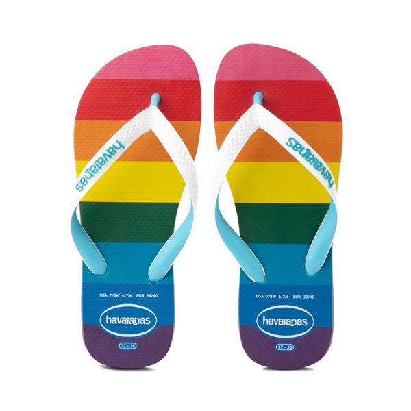 Main view of Womens Havaianas Top Pride Sandal - Rainbow