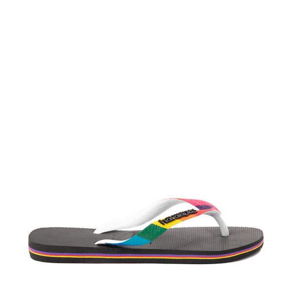 alternate view Havaianas Top Pride Sandal - Black / RainbowALT1