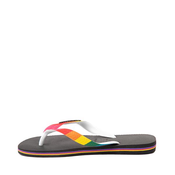 alternate view Havaianas Top Pride Sandal - Black / RainbowALT1B