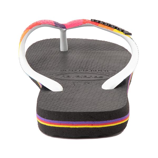 alternate view Havaianas Top Pride Sandal - Black / RainbowALT4