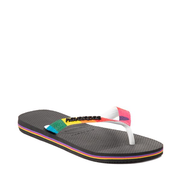 alternate view Havaianas Top Pride Sandal - Black / RainbowALT5