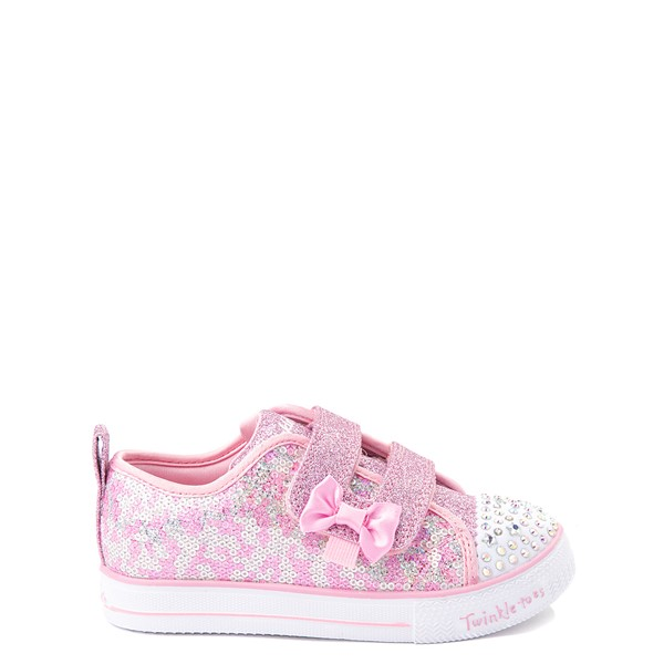 Main view of Skechers Twinkle Toes Shuffle Lites Sequin N Shine Sneaker - Toddler / Little Kid - Pink