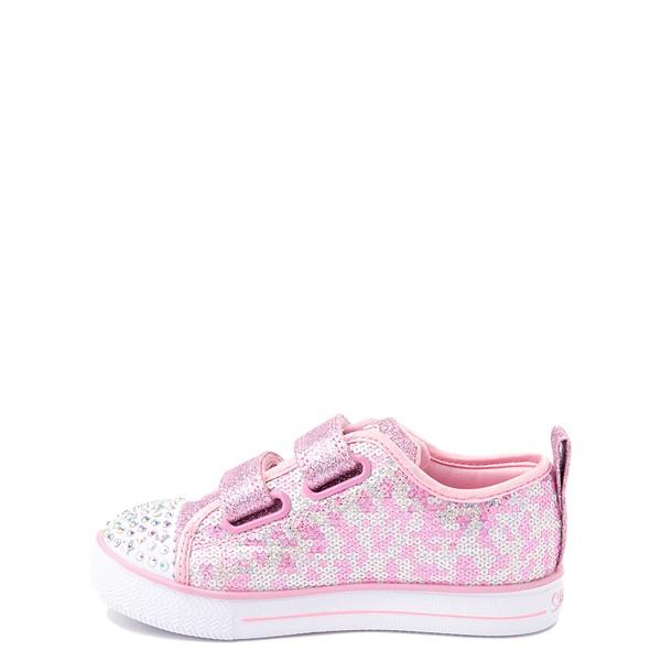 alternate view Skechers Twinkle Toes Shuffle Lites Sequin N Shine Sneaker - Toddler / Little Kid - PinkALT1B