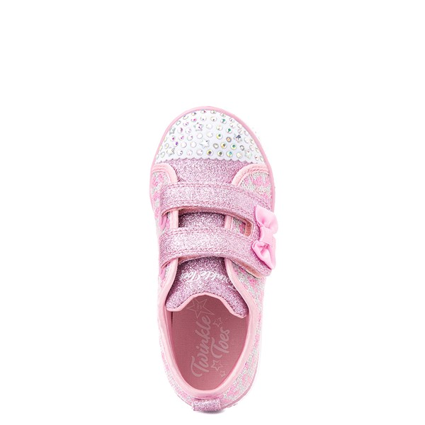 alternate view Skechers Twinkle Toes Shuffle Lites Sequin N Shine Sneaker - Toddler / Little Kid - PinkALT2