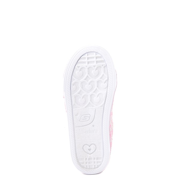 alternate view Skechers Twinkle Toes Shuffle Lites Sequin N Shine Sneaker - Toddler / Little Kid - PinkALT3
