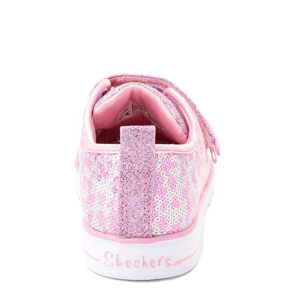 alternate view Skechers Twinkle Toes Shuffle Lites Sequin N Shine Sneaker - Toddler / Little Kid - PinkALT4