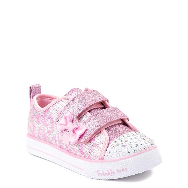 alternate view Skechers Twinkle Toes Shuffle Lites Sequin N Shine Sneaker - Toddler / Little Kid - PinkALT5