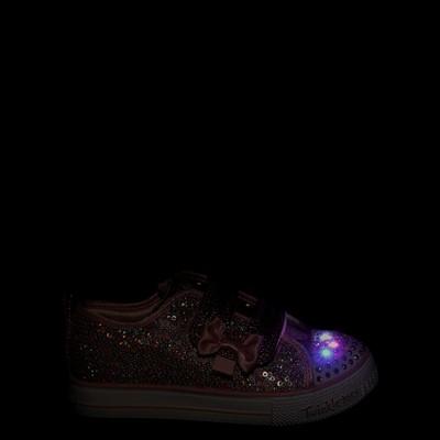 Alternate view of Skechers Twinkle Toes Shuffle Lites Sequin N Shine Sneaker - Toddler / Little Kid - Pink