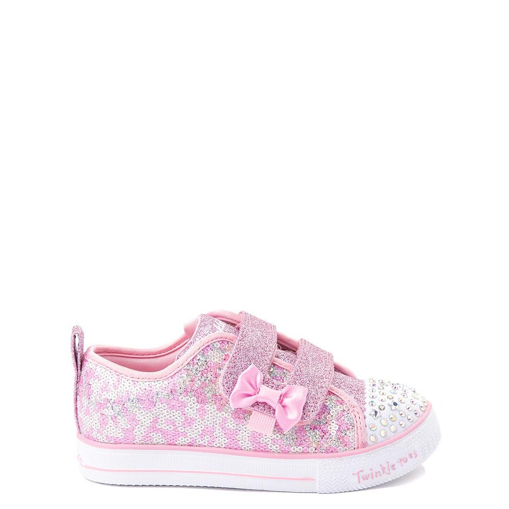 Skechers Twinkle Toes Shuffle Lites Sequin N Shine Sneaker - Toddler / Little Kid - Pink