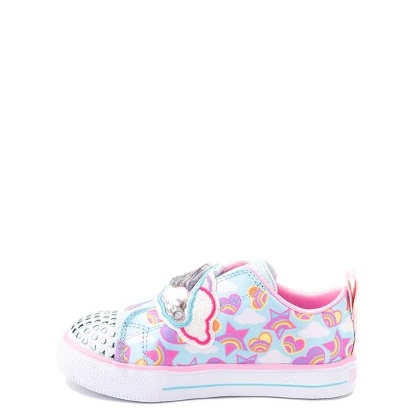 alternate view Skechers Twinkle Toes Shuffle Lites Rainbow Sprinkles Sneaker - Toddler / Little Kid - Light BlueALT1B