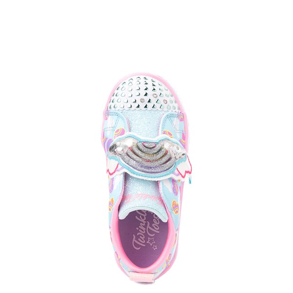 alternate view Skechers Twinkle Toes Shuffle Lites Rainbow Sprinkles Sneaker - Toddler / Little Kid - Light BlueALT2