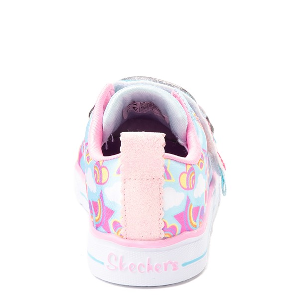 alternate view Skechers Twinkle Toes Shuffle Lites Rainbow Sprinkles Sneaker - Toddler / Little Kid - Light BlueALT4
