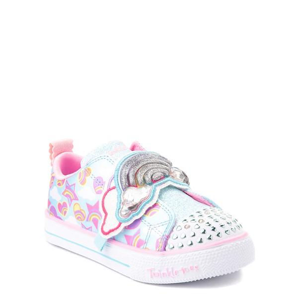 alternate view Skechers Twinkle Toes Shuffle Lites Rainbow Sprinkles Sneaker - Toddler / Little Kid - Light BlueALT5