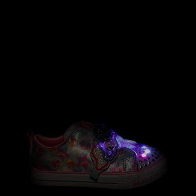 Alternate view of Skechers Twinkle Toes Shuffle Lites Rainbow Sprinkles Sneaker - Toddler / Little Kid - Light Blue