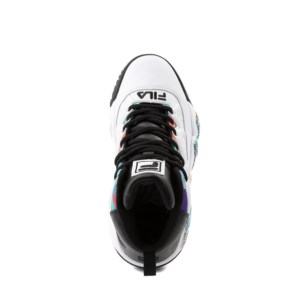 alternate view Mens Fila MB '90s Athletic Shoe - White / MulticolorALT2