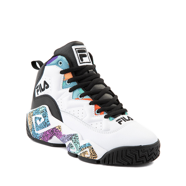 alternate view Mens Fila MB '90s Athletic Shoe - White / MulticolorALT5
